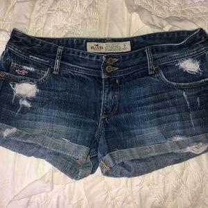 Hollister Shorts - Hollister distressed denim shorts